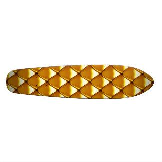 Teste padrão elegante da escala do ouro shape de skate 18,1cm