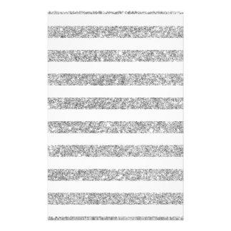 Teste padrão elegante da listra do brilho da prata flyer