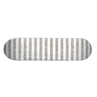 Teste padrão elegante da listra do brilho da prata shape de skate 20,6cm