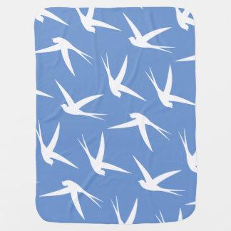 Teste padrão elegante livre de voo do pássaro mantas de bebe