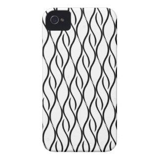 Teste padrão elegante preto e branco capinhas iPhone 4