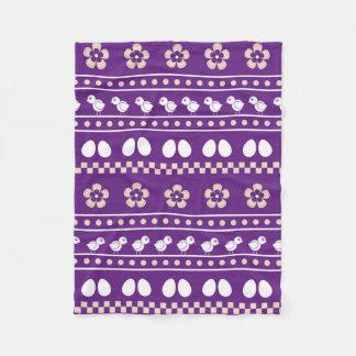 Teste padrão engraçado com coleção da páscoa da cobertor de velo