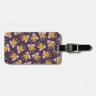 teste padrão engraçado da ilustração do estilo dos tags de mala