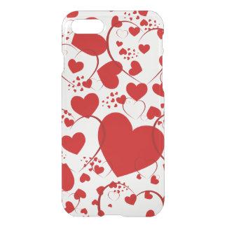 Teste padrão engraçado V do coração + sua cor do Capa iPhone 7