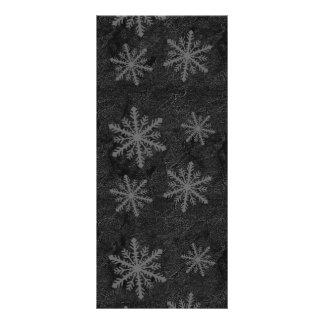 Teste padrão escuro 1 do floco de neve panfleto informativo personalizado