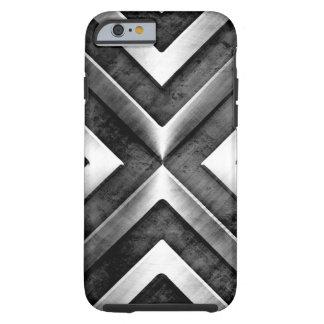 Teste padrão escuro masculino legal do aço do capa tough para iPhone 6
