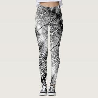 Teste padrão espiral transparente Mystical da Legging