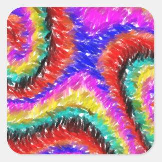 Teste padrão estranho colorido diferente adesivo quadrado