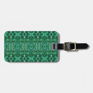 Teste padrão esverdeado do design do caleidoscópio tag de mala