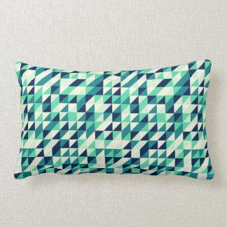 Teste padrão esverdeado do triângulo travesseiros
