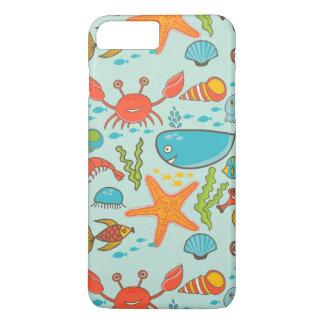 Teste padrão feliz do fuzileiro naval dos peixes capa iPhone 7 plus