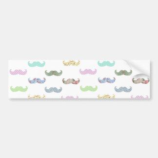 Teste padrão feminino do bigode adesivo para carro