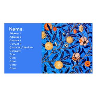 Teste padrão fino de William Morris do vintage da Cartão De Visita