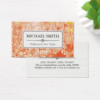 Teste padrão floral #2 do vintage moderno do cartão de visitas