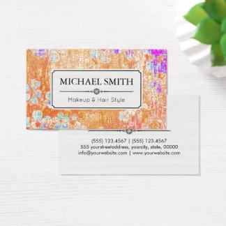 Teste padrão floral #3 do vintage moderno do cartão de visitas