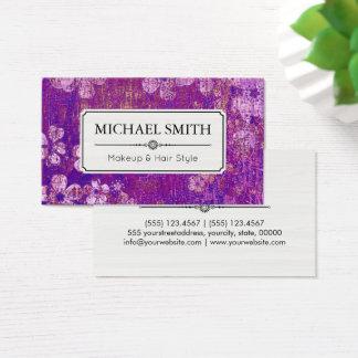 Teste padrão floral #4 do vintage moderno do cartão de visitas