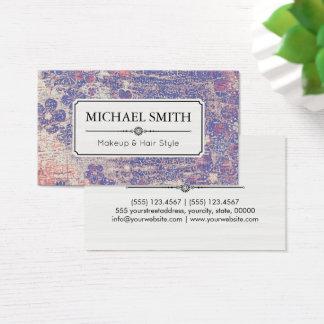 Teste padrão floral #7 do vintage moderno do cartão de visitas