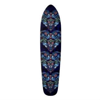 Teste padrão floral à moda do boho chique elegante shape de skate 19,7cm