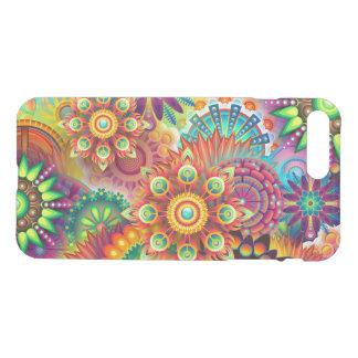 Teste padrão floral abstrato colorido capa iPhone 7 plus