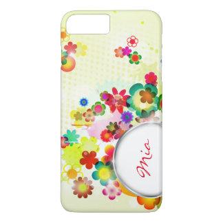 teste padrão floral abstrato com quadro para o capa iPhone 7 plus