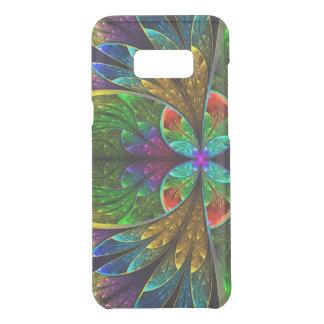 Teste padrão floral abstrato do vitral capa para samsung galaxy s8+ da uncommon