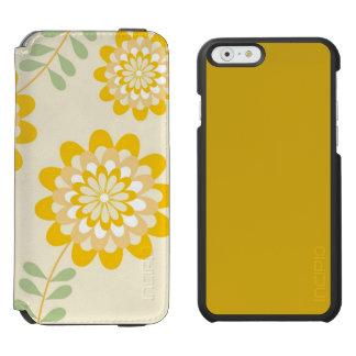 Teste padrão floral amarelo à moda - creme