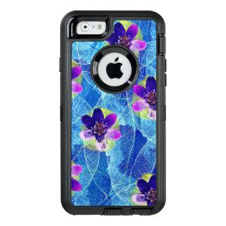 Teste padrão floral artística roxo e azul bonito