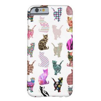 Teste padrão floral asteca das listras dos gatos capa barely there para iPhone 6