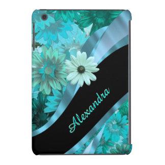 Teste padrão floral azul do aqua bonito capa para iPad mini retina