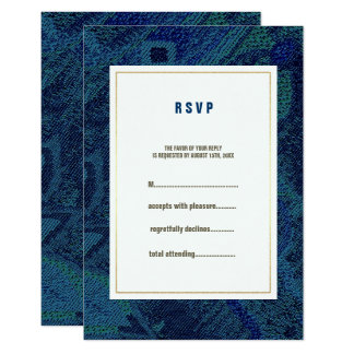 Teste padrão floral azul que Wedding cartões de