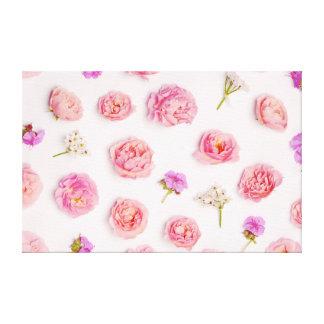 Teste padrão floral bonito impressão em canvas