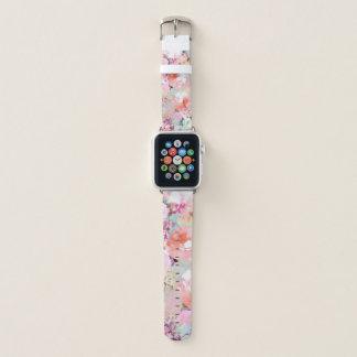 Teste padrão floral chique da aguarela cor-de-rosa