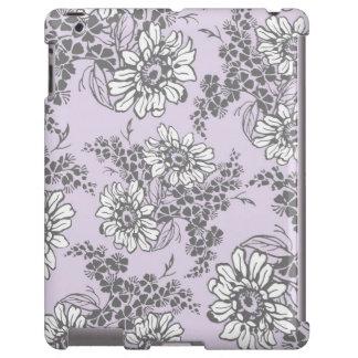 teste padrão floral cinzento do Lilac do iPad Capa Para iPad