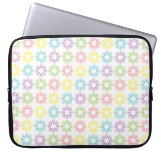 Teste padrão floral colorido sleeve para laptop