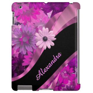 Teste padrão floral cor-de-rosa bonito capa para iPad
