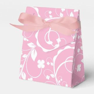 teste padrão floral cor-de-rosa caixinha de lembrancinhas
