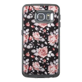 Teste padrão floral cor-de-rosa do vintage