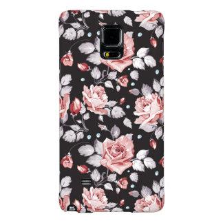 Teste padrão floral cor-de-rosa do vintage capas galaxy note 4