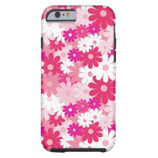 Teste padrão floral cor-de-rosa lindo bonito e capa tough para iPhone 6