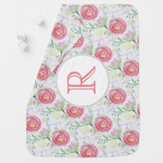 Teste padrão floral da aguarela moderna mantas para bebe