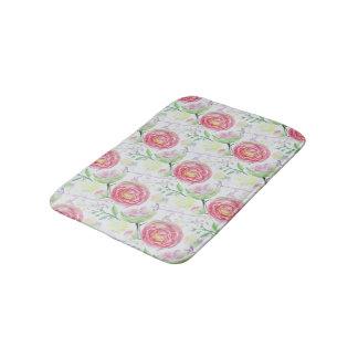 Teste padrão floral da aguarela moderna tapete de banheiro