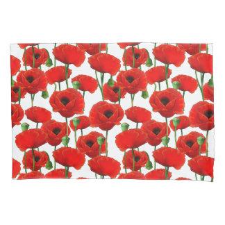 Teste padrão floral das papoilas vermelhas