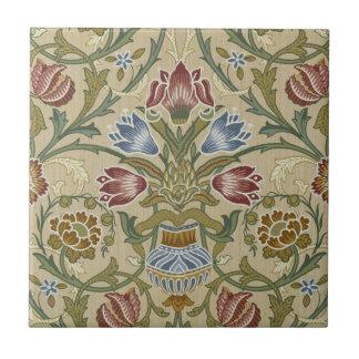 Teste padrão floral de brocado de William Morris Azulejo Quadrado Pequeno