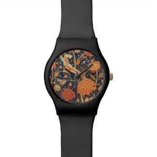 Teste padrão floral de Nouveau da arte de William Relogios De Pulso