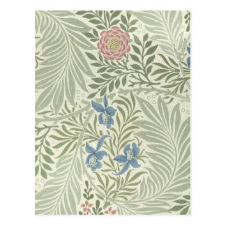 Teste padrão floral de William Morris Larkspur Cartão Postal