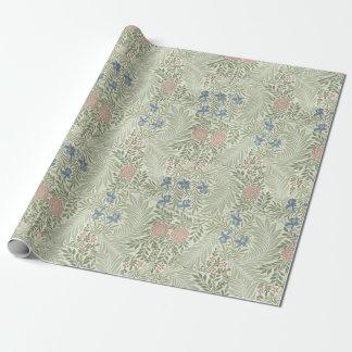Teste padrão floral de William Morris Larkspur Papel De Presente