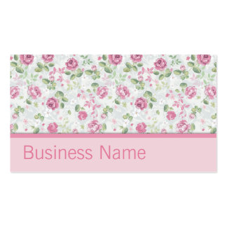 Teste padrão floral do cabeleireiro elegante do cartão de visita