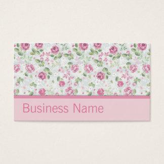 Teste padrão floral do cabeleireiro elegante do cartão de visitas