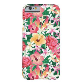 Teste padrão floral do hibiscus tropical capa barely there para iPhone 6