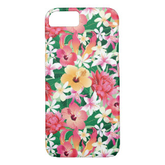 Teste padrão floral do hibiscus tropical capa iPhone 7